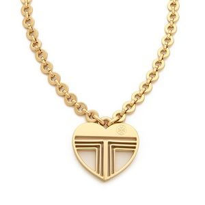 NWOT Tory Burch Adeline Fret Pendant Necklace